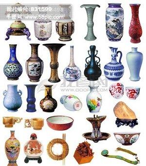 精品分层源文件素材集合-中国风元素-瓷器