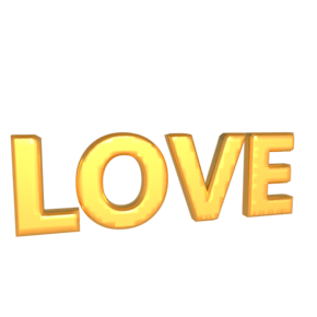 C4DLOVE字体模型PNG